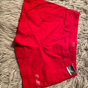 Red shorts size 6
